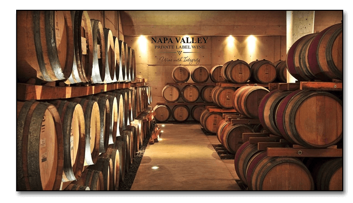 Napa Private Label Wine Barrels